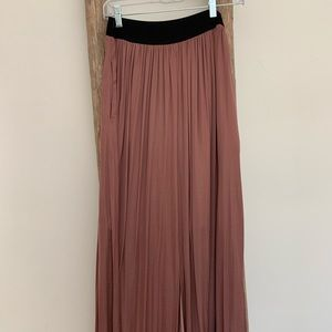 Long Soft Silk Skirt